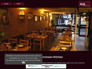 Ada Mediterranean website screenshot