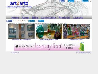 Screenshot of the Art2Artz website