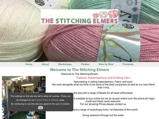 Screenshot of the The Stitching Elmers website