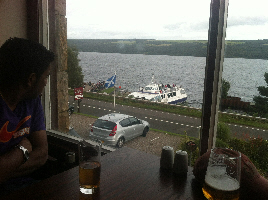 View from The Clansman Inside
