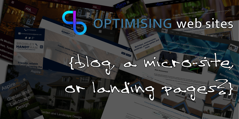 Blog, micro site or landing page?